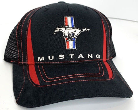 Classic Ford Mustang Logo / Emblem Trucker Hat (Front)