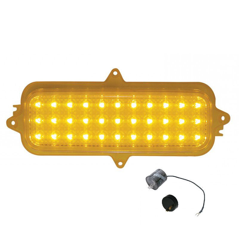 1960-66 Classic Chevy Truck LED Parking Lights - Amber (Both)