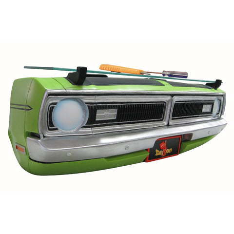 1970 Dodge Demon Wall Shelf - Lime Green Front End w/ Glass - Side