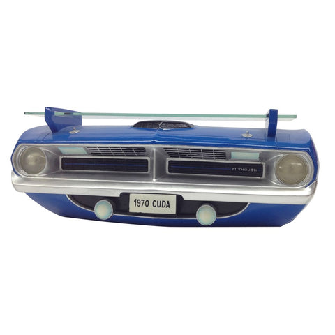 1970 Plymouth Barracuda R/T Wall Shelf - Class Blue Front End - Front