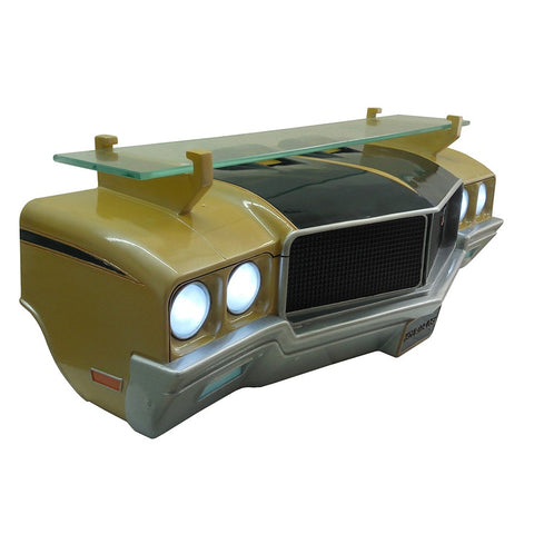 Image of 1971 Buick Skylark GSX Wall Shelf - Gold w/ Black and LED Headlights - Passenger