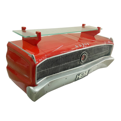 Image of 1967 Dodge Charger Hemi Wall Shelf - Classic Red w/ Glass Shelf - Passenger