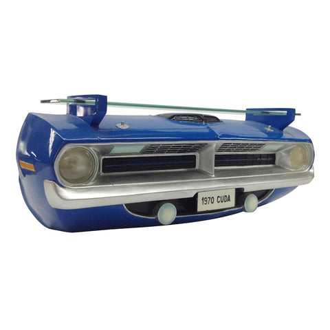 1970 Plymouth Barracuda R/T Wall Shelf - Class Blue Front End - Side