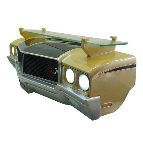 Image of 1971 Buick Skylark GSX Wall Shelf - Gold w/ Black and LED Headlights - Driver
