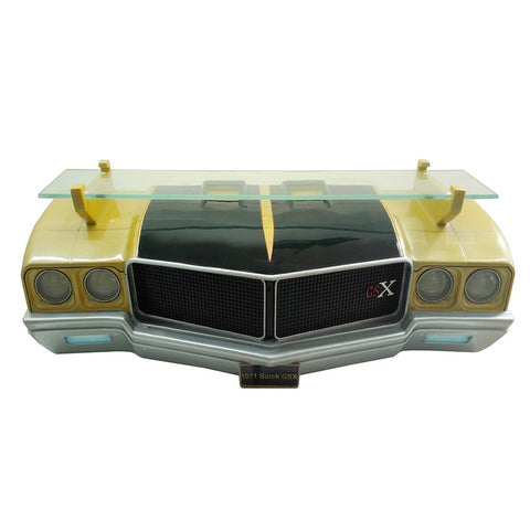 Image of 1971 Buick Skylark GSX Wall Shelf - Gold w/ Black and LED Headlights - Front