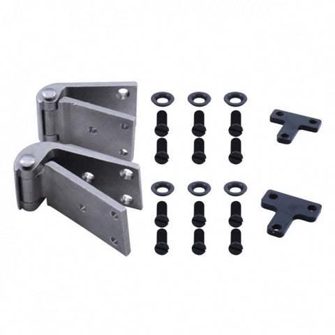 Image of 1932 Ford Passenger Door Hinge Set - Stainless Steel - main