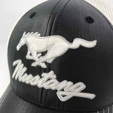 Ford Mustang Pony Emblem Hat Trucker Style (Top)
