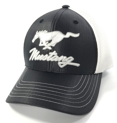 Image of Ford Mustang Pony Emblem Hat Trucker Style (Front)