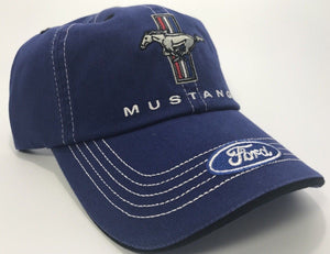 Ford Mustang Logo / Emblem Hat with Tri Bar Pony Logo (Front)