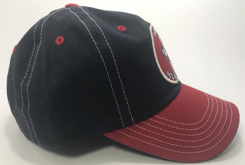 Ford Mustang Patch Hat - Red & Black with Logo (Bottom)