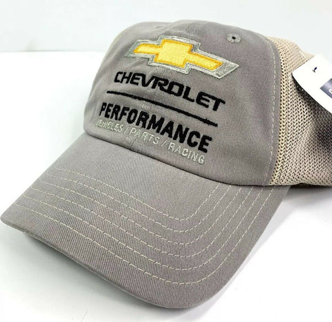 Image of Chevrolet Performance Vehicles Parts Racing Hat - Gray / Khaki-Live Fast Supply Company