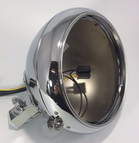 Chrome Motorcycle Headlight Bucket - Fits Harley Smooth