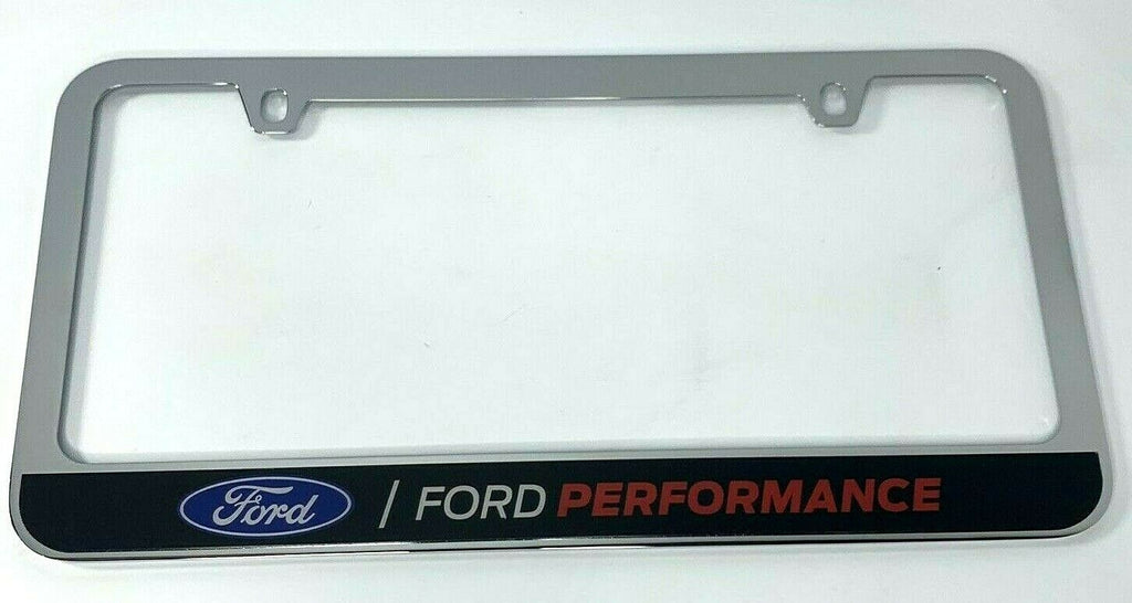 Ford Performance Premium License Plate Frame Chrome - Top