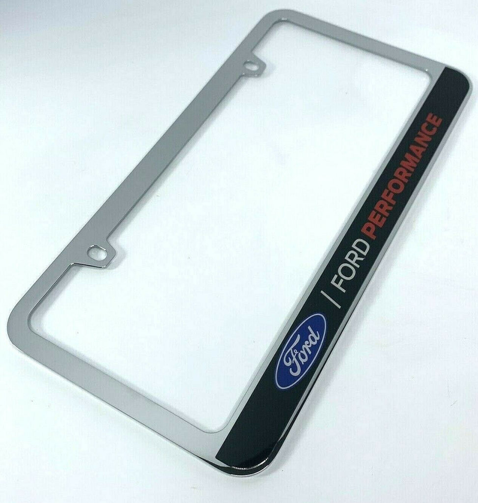 Ford Performance Premium License Plate Frame Chrome - Main