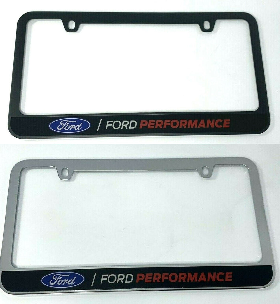 Ford Performance Premium License Plate Frame (Black or Chrome)