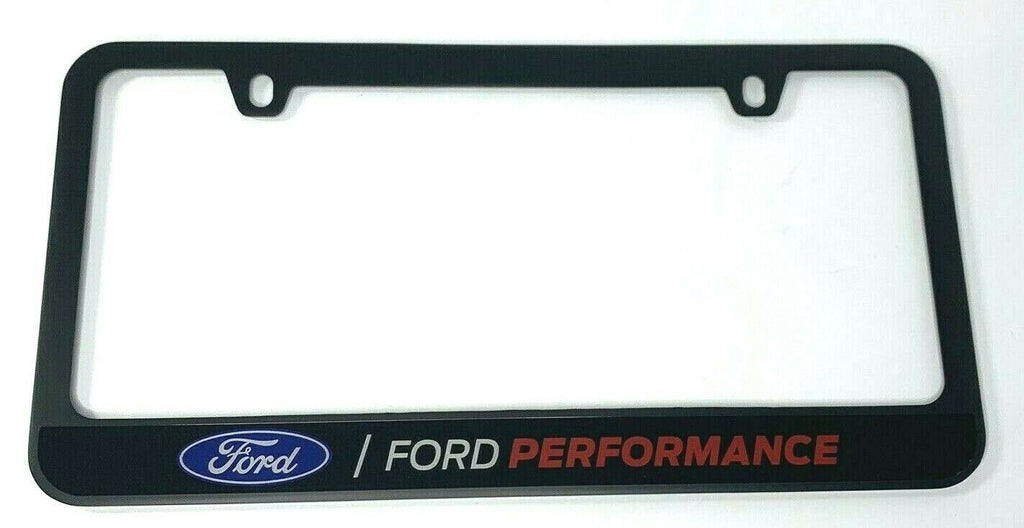 Ford Performance Premium License Plate Frame Black - Top