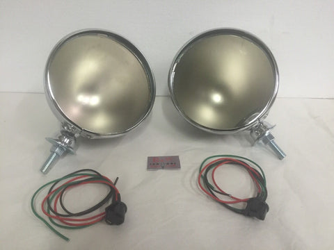 7 Inch Dietz Headlight Buckets (Set/2) Chrome - Inside