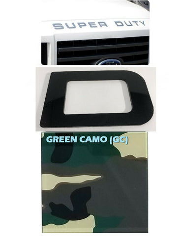 Hood Letter Inserts For 2008-16 Ford F250 Super Duty - Camo