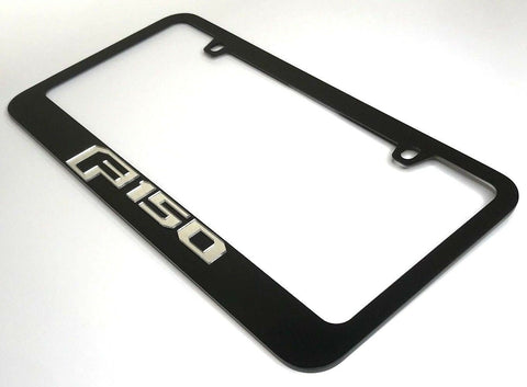 Ford F-150 License Plate Frame - Black with Chrome Script