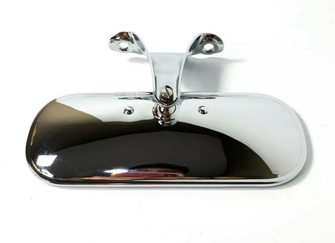 Chrome Interior Rear View Mirror w/ Bracket For 1948-1952 Ford Pickup Truck