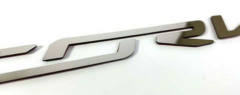 Polished Stainless Fuel Rail Letters Inserts For 2014-2019 Chevy C7 Corvette-Live Fast Supply Company