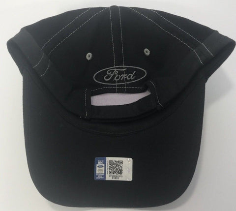 Black Ford Mustang Hat with Offset Pony Emblem (Back)
