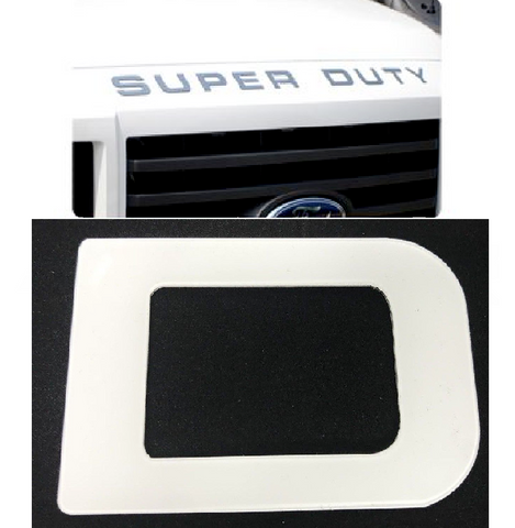 Hood Letter Inserts For 2008-16 Ford F250 Super Duty - White
