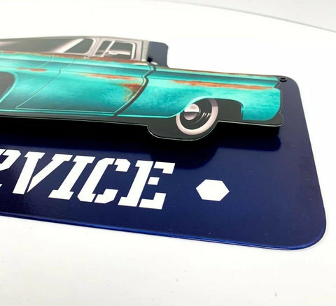 Image of 1960 Chevy C10 Pickup Truck Parts & Service Metal Sign - Above