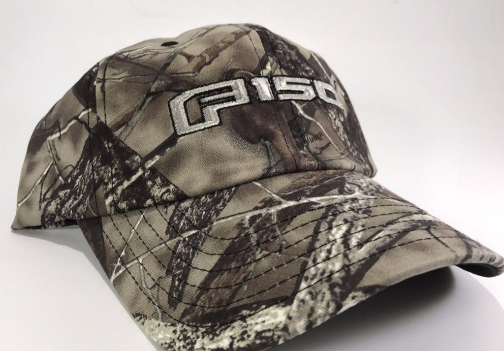 Ford F150 Hat - True Timber Camo with Logo Embroidered (Front)