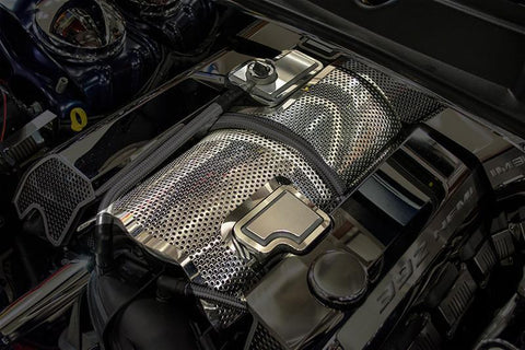Image of 2011-2018 SRT Engine Plenum Perforated Cover - SRT & SRT8 6.4L 392- Installed