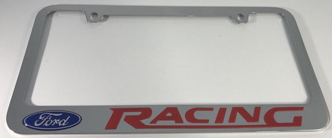 Pair (2) Ford Racing Metal License Plate Frames
