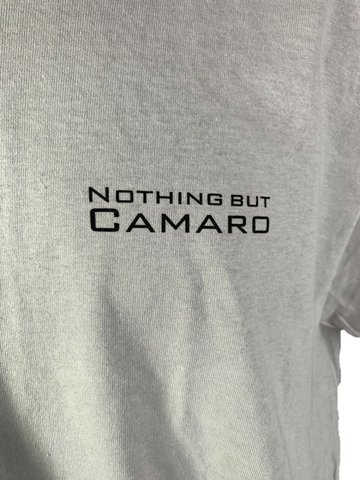 Image of Chevy Camaro T-Shirt w/ Six Generations of Cars & Emblems - Light Gray
