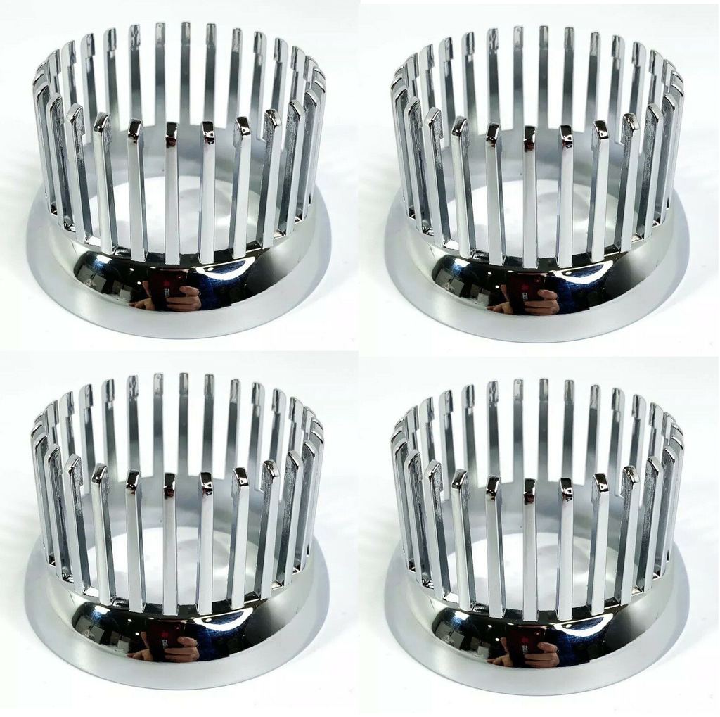 Chrome 1959 Cadillac Style Tail Light Bezel - Custom Flush Mount Metal - Set
