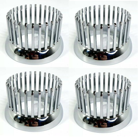 Image of Chrome 1959 Cadillac Style Tail Light Bezel - Custom Flush Mount Metal - Set