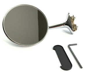 Door Edge Peep Mirror - Stainless Steel with Chrome Long Arm - Main