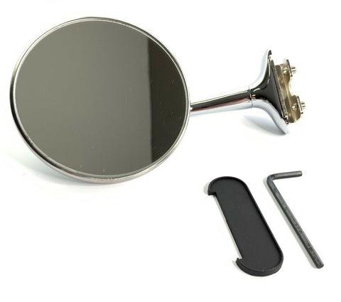 Image of Door Edge Peep Mirror - Stainless Steel with Chrome Long Arm - Main
