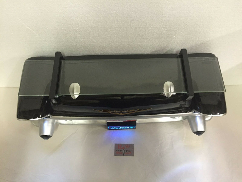 1957 Chevrolet Bel Air Wall Shelf - Classic Black w/ Glass - Top