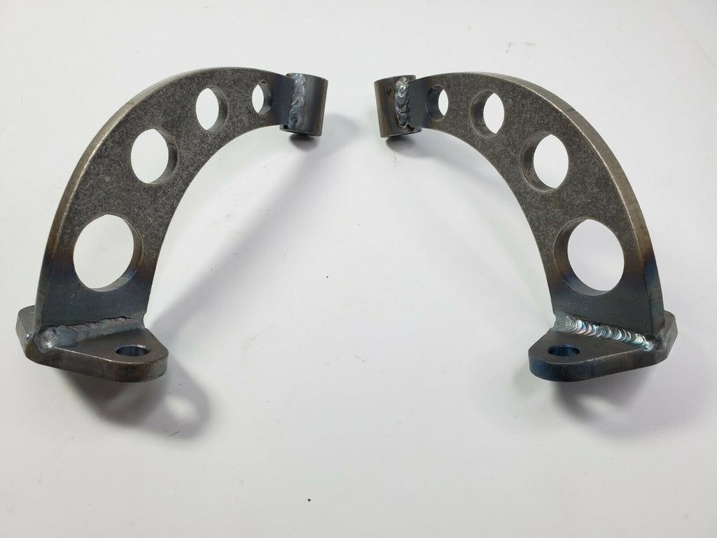 Pair of Headlight Stands / Mounts For Hot Rods (Custom Steel Frame Mounts) - Drilled 1