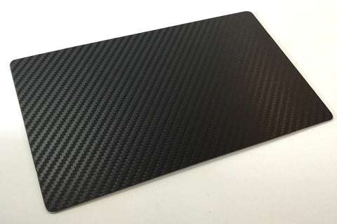 Image of Please Don't Touch My Corvette Sign - Black Carbon Fiber Dash Plaque for Car Shows - Back