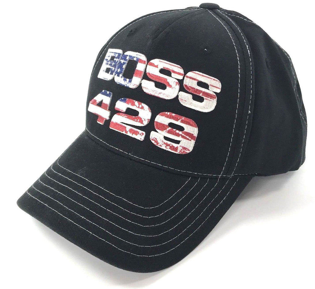 Ford Mustang Boss 429 American Flag Script Hat (Front)