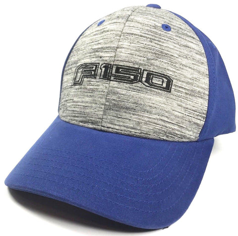 Ford F150 Emblem Hat - Grey & Blue with Logo (Front)