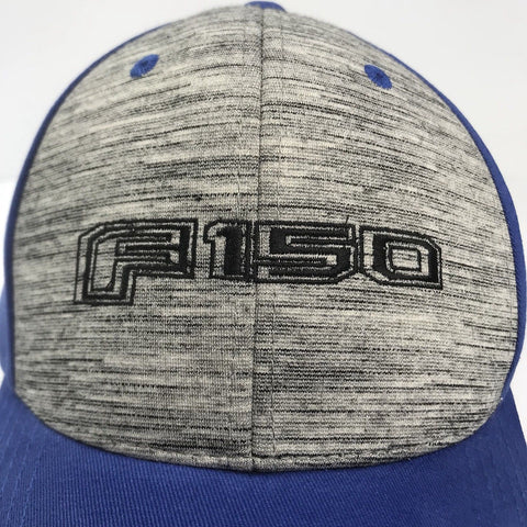 Image of Ford F150 Emblem Hat - Grey & Blue with Logo (Top)