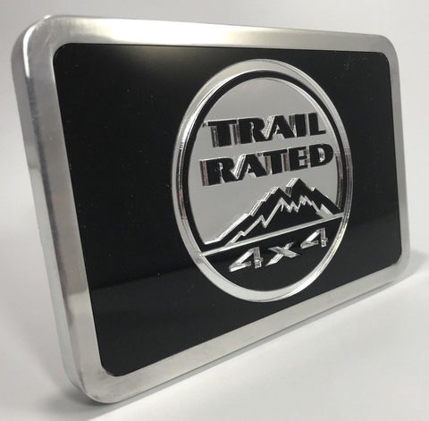 Jeep Hitch Plug - Trail Rated Logo Emblem 4x4 (Front)