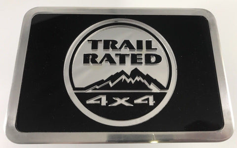 Jeep Hitch Plug - Trail Rated Logo Emblem 4x4 (Top)