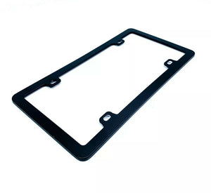 Blank Black License Plate Frame - Blank Standard US (Main)