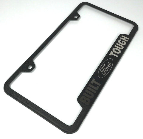 Image of Built Ford Tough License Plate Frame - Black with Logo (Main)