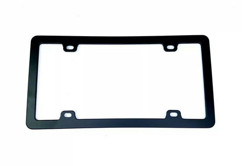 Image of Blank Black License Plate Frame - Blank Standard US (Front)