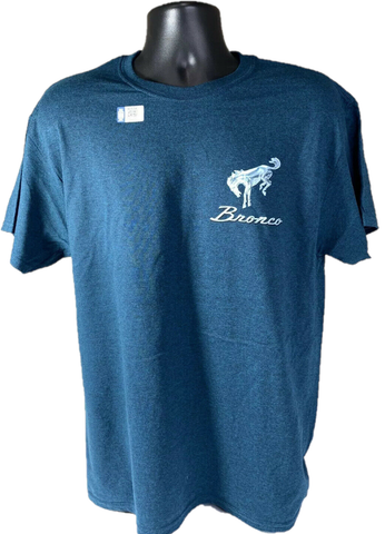 "Ford Bronco T-Shirt ""Hit the Off Road"" Scene w/ Script Emblem - Midnight Blue-Live Fast Supply Company"