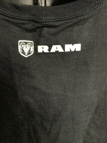 Black T-Shirt w/ Dodge Ram Truck Emblem Logo - Licensed - Back 2