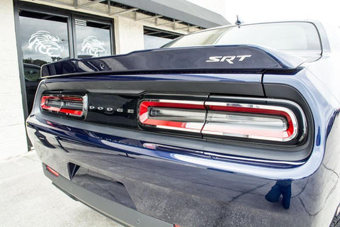 Image of Pair of 2015-2018 Dodge Challenger Tail Light Trim Overlays - Stainless Steel - Right